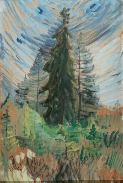 Pine Trees and Blue Sky  by  Emily Carr