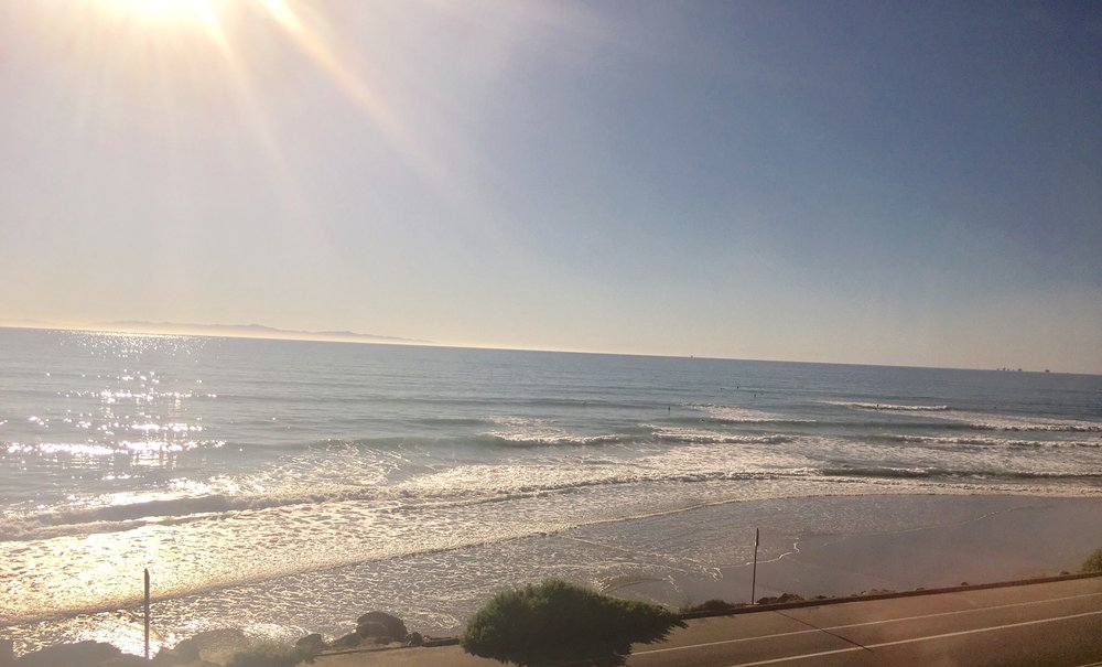 View from the Pacific Surfliner train