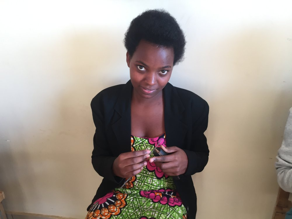 Rosine Utamuriza Rosine is a 21 year old jewelry maker and metal smith who graduated from Secondary School in Nyamata with a degree in Mathematics, Chemistry and Biology. Rosine is honored to learn about the world of jewelry design and plans to make a living to support her family and her university education. Rosine desires to be a world-renowned successful business woman known for her talents and compassion.