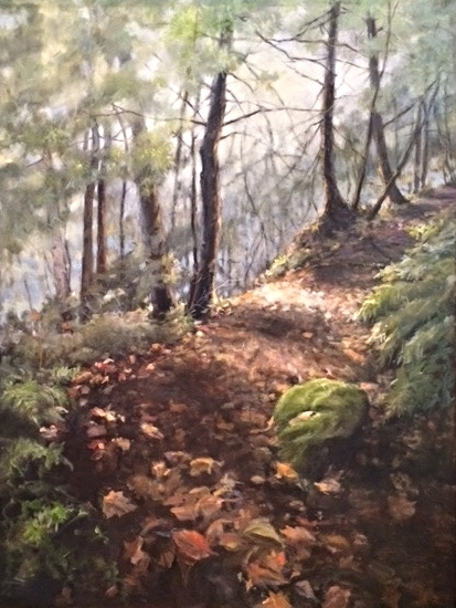 """Trail to the Cave""                              Oil                                                    36"" x 48"""