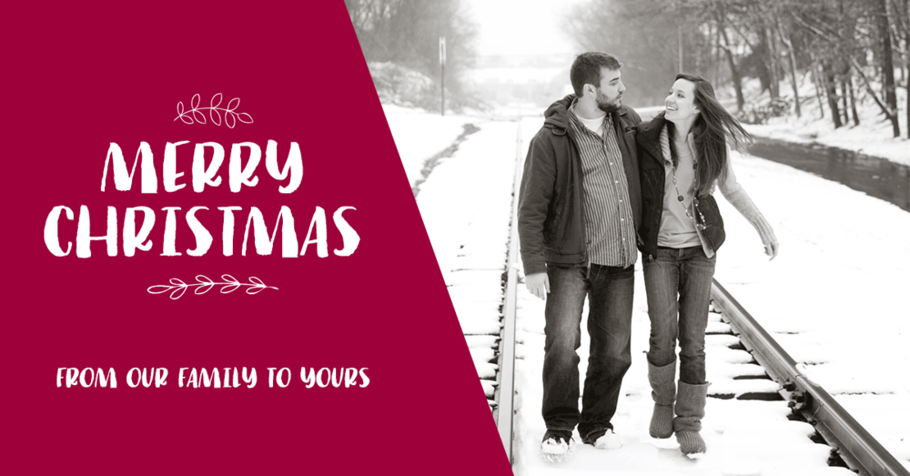 Say Merry Christmas with a social media Christmas card this year!