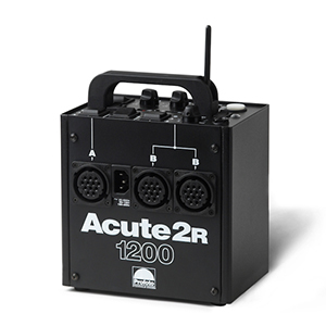 Profoto Acute2R 1200 Watt Power Pack Includes: power pack, power cord, & sync cord. 3 lamphead sockets. Daily Rental Rate $25.00 Weekly Rental Rate $100.00