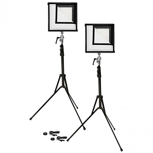 Westcott Flex Location Kit Location LED's with variable brightness & color temperature Includes: 2x LED's + Diffusion Box, 2x Battery Packs, and 2x Stands Daily Rental $50.00 Weekly Rental $200.00