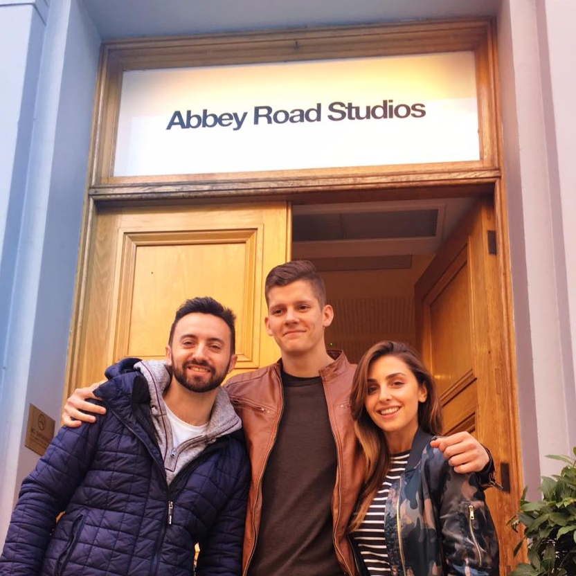 The first day Lydia and colleges (Jerry and Joshua) entered Abbey Road to record Brass for an upcoming Trailer album.