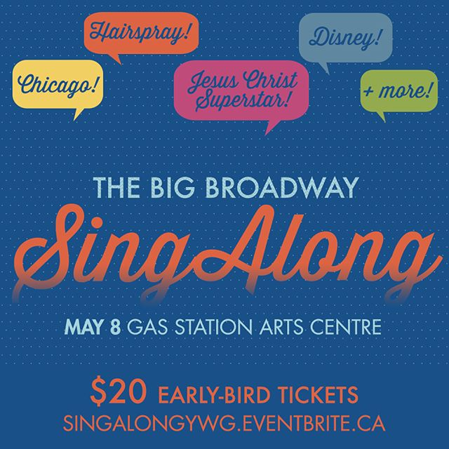 COME SING WITH US! Get your tickets to The Big Broadway Sing Along 3! We've got an incredible group together singing the hits from Chicago, Hairspray, Jesus Christ Superstar and DISNEY!  Join us at the GSAC on Monday, May 8th - you won't want to miss it! #winnipeg #wpgevents #wpgtheatre #singalong #broadway