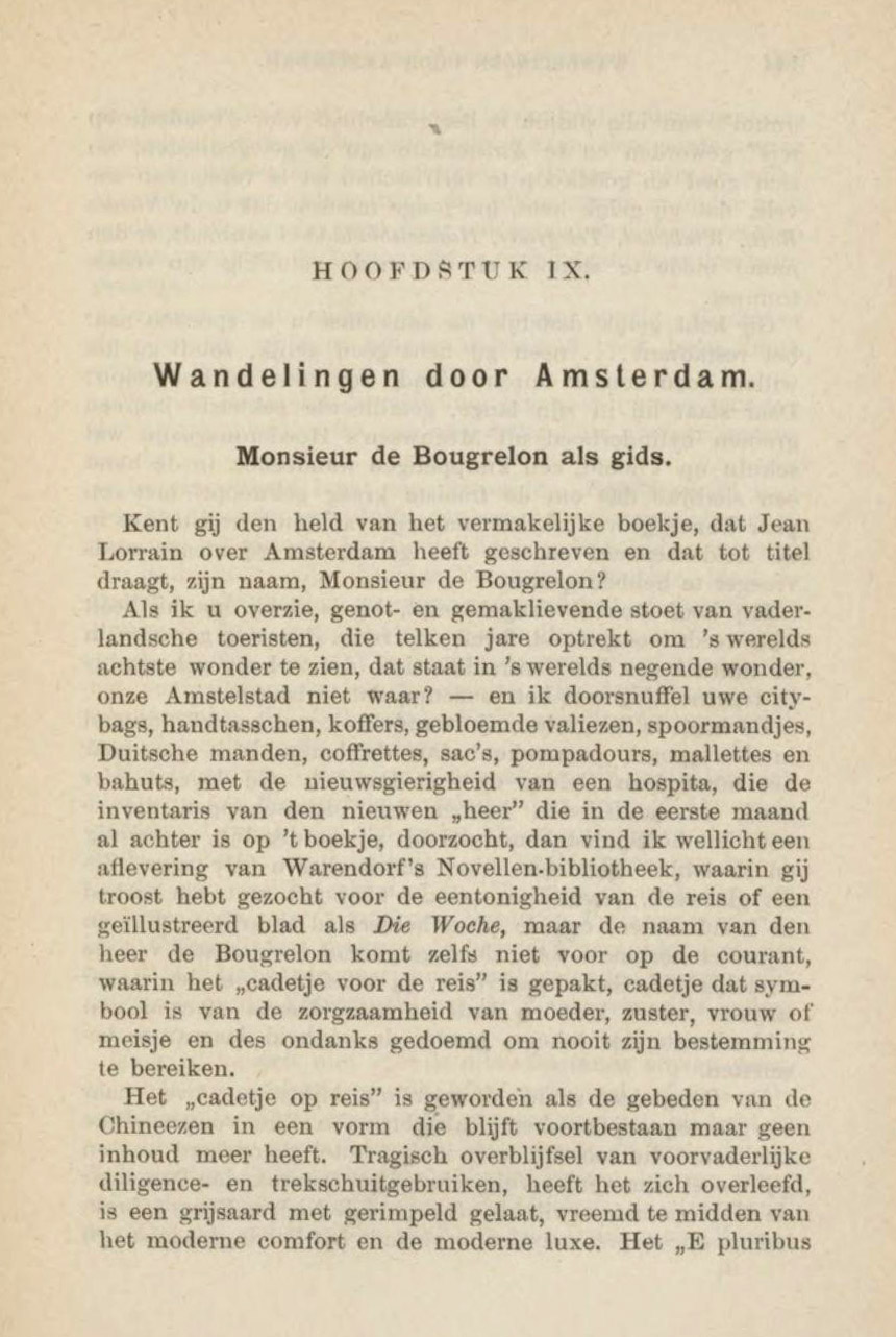 Chapter Nine, Illustrated Guide to Amsterdam and Environs