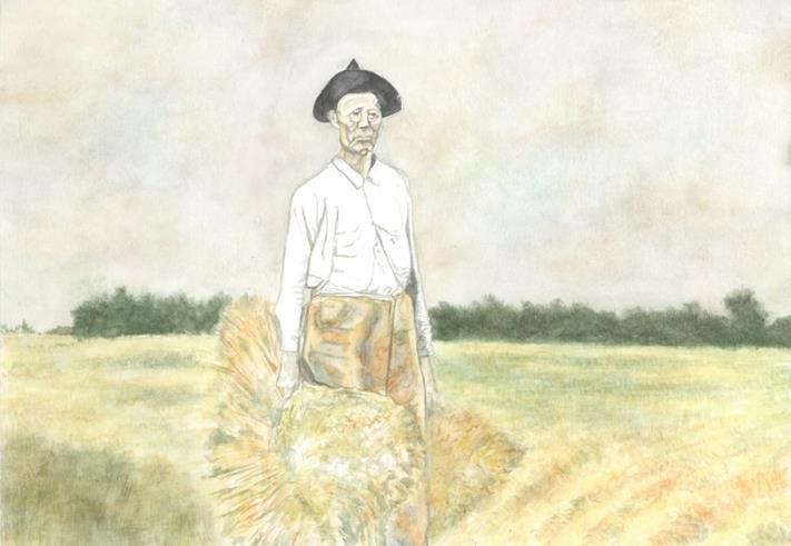 Marshall Alexander with Wheat Shocks
