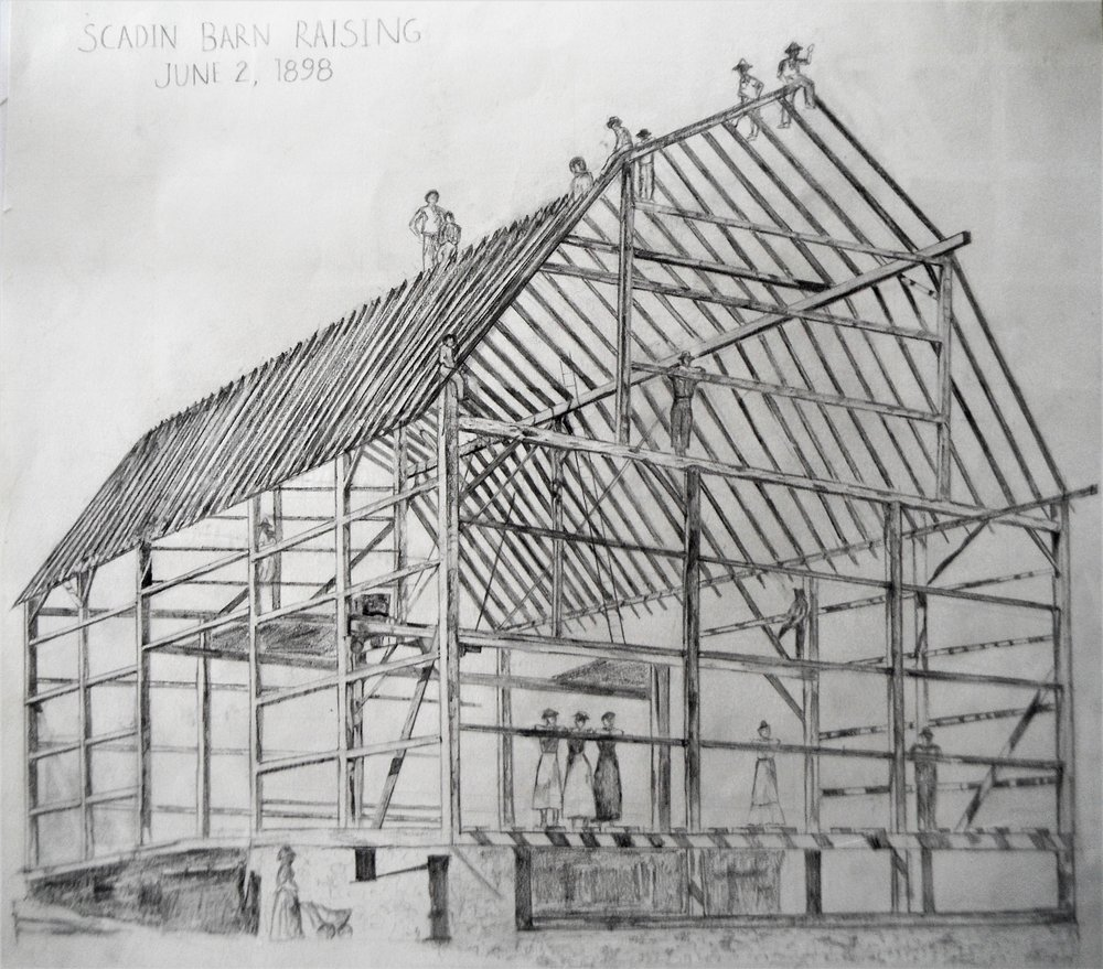 (P) Scadin Barn Raising June 2nd 1898