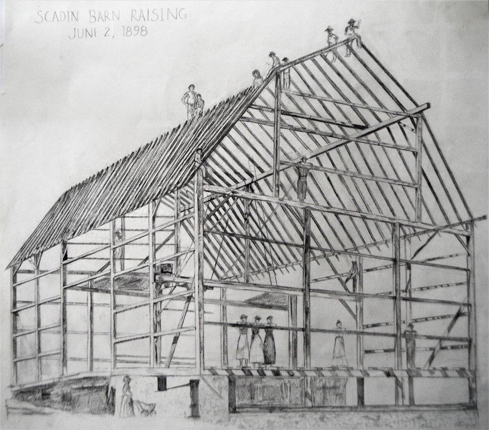 Scadin Barn Raising June 2nd 1898