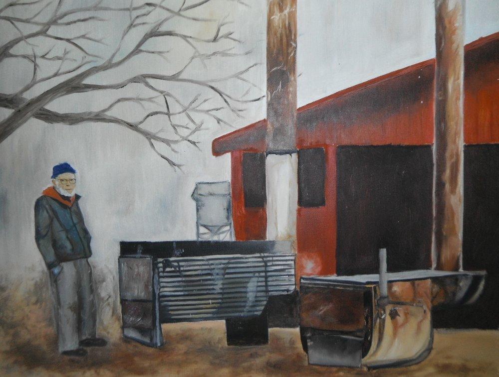 Grandpa Whitney Boiling Maple Sap