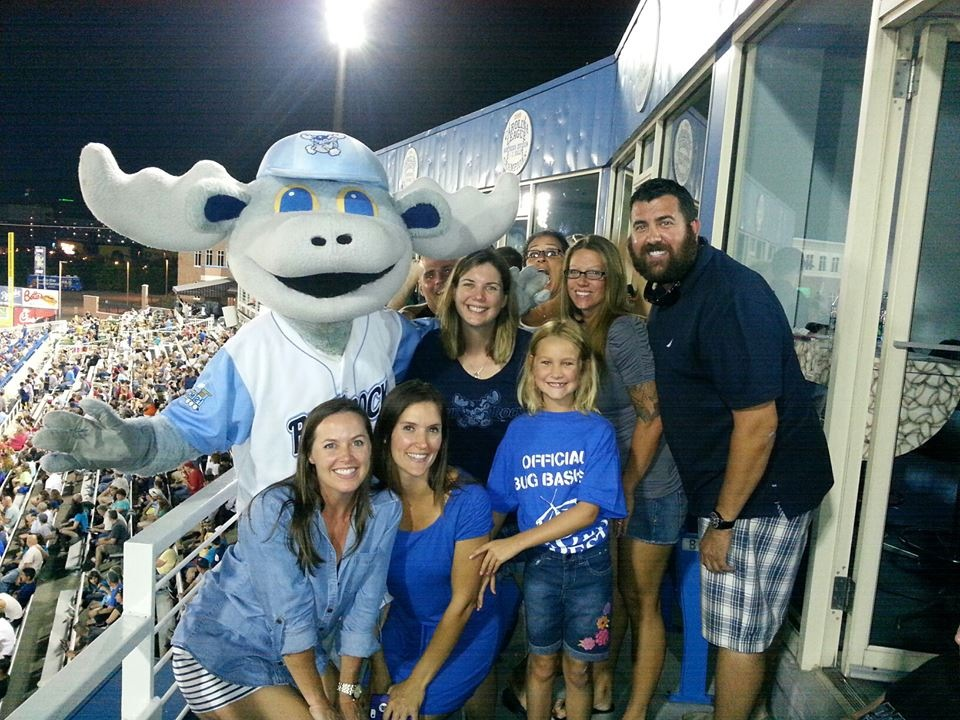 The Yeager Law Firm and friends enjoy a night with Rocky Bluewinkle