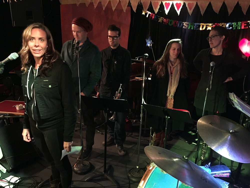 Amanda Rheaume soundcheck with the Woodshed Hugh's Room Oct 30/15