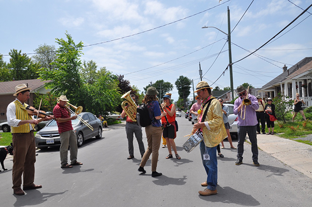 The Woodshed parade with Sheeshum & Lotus Skelton Park Parade Kingston 2015