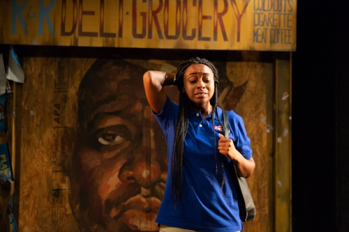 Alana Raquel Bowers in SCRAPS at The Flea Theater, photo by Hunter Canning