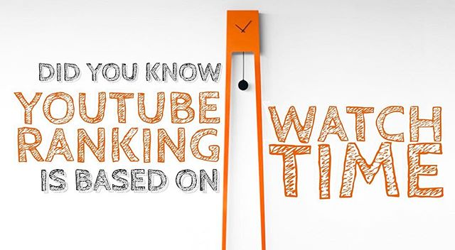 YouTube ranks videos based on the length of time your viewers spend watching you videos... not video views!  #videomarketing #socialmediamarketing #socialmediatips #youtubechannel #youtube #youtuber #video #branding #influencer #businessowner #businesswoman #entrepreneurlife