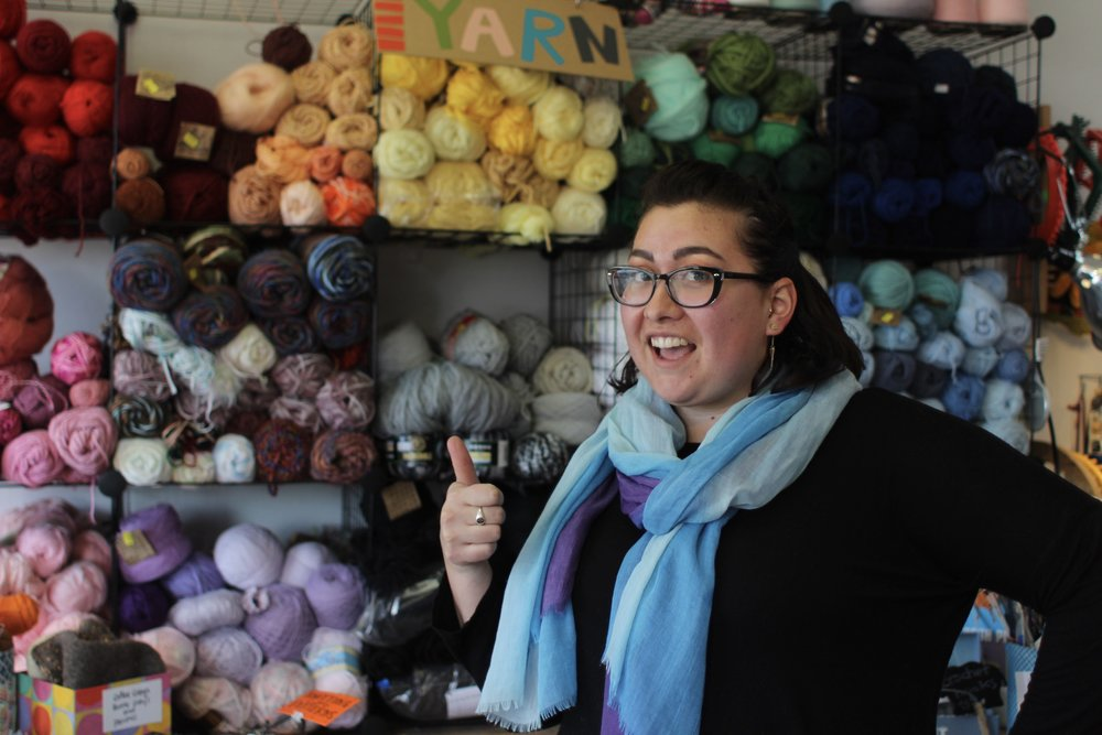 Carina, our new shop manager in our Creative Reuse Center in Murray.