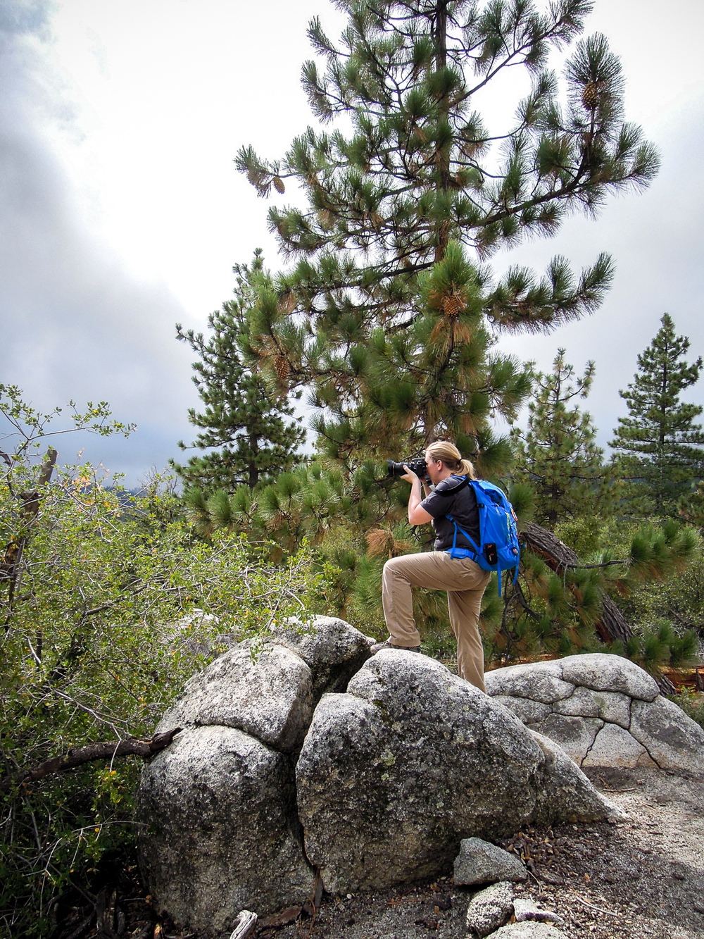 Andrea and our Patagonia Ascensionist 35L Pack
