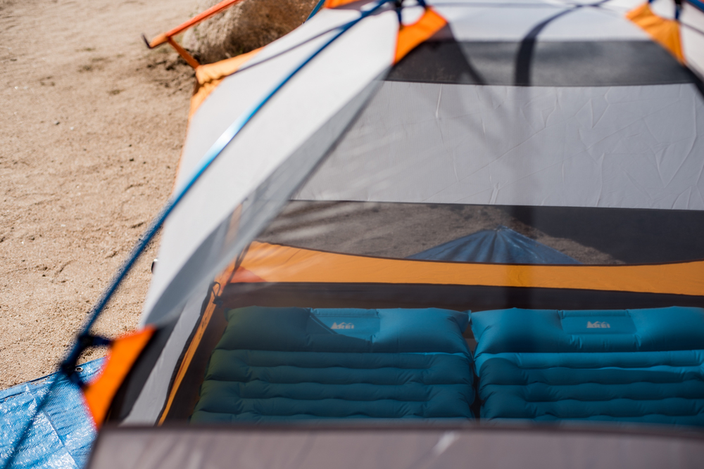Breezy mesh allows air flow to keep the tent cool during warm days.