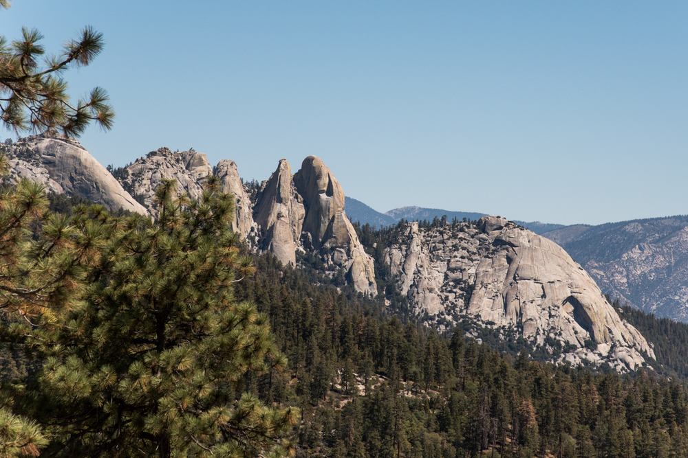 The view of Needles from Dome Rock.