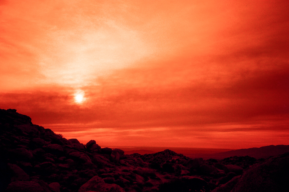 Redscale sunset.