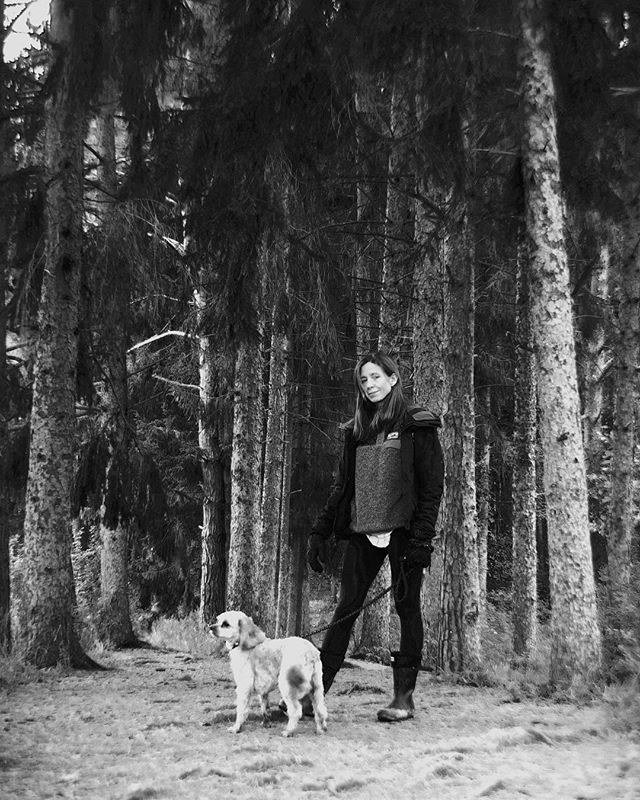 Woods, walk and cold fresh air