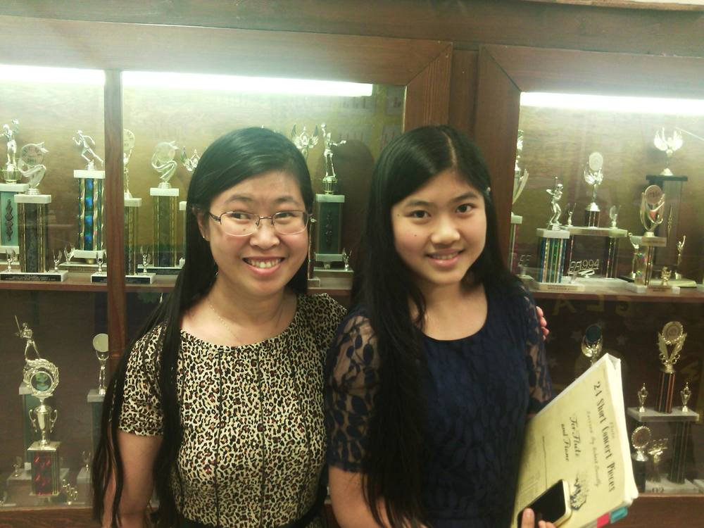 Coral Springs - Westglades Middle School seventh-grader Cathy earns a Superior at Solo and Ensemble (Ramblewood Middle School)