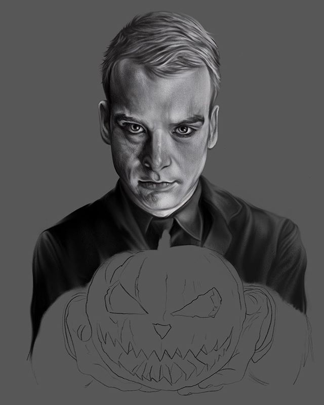 Paying homage to one of my favorite front men @matttskiba still way more to do obviously, when I'm not working on tattoo drawings I'm working on stuff like this. #alkalinetrio #mattskiba