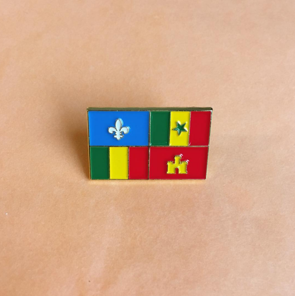 #27 - Enamel pin with Creole FlagMay 2017