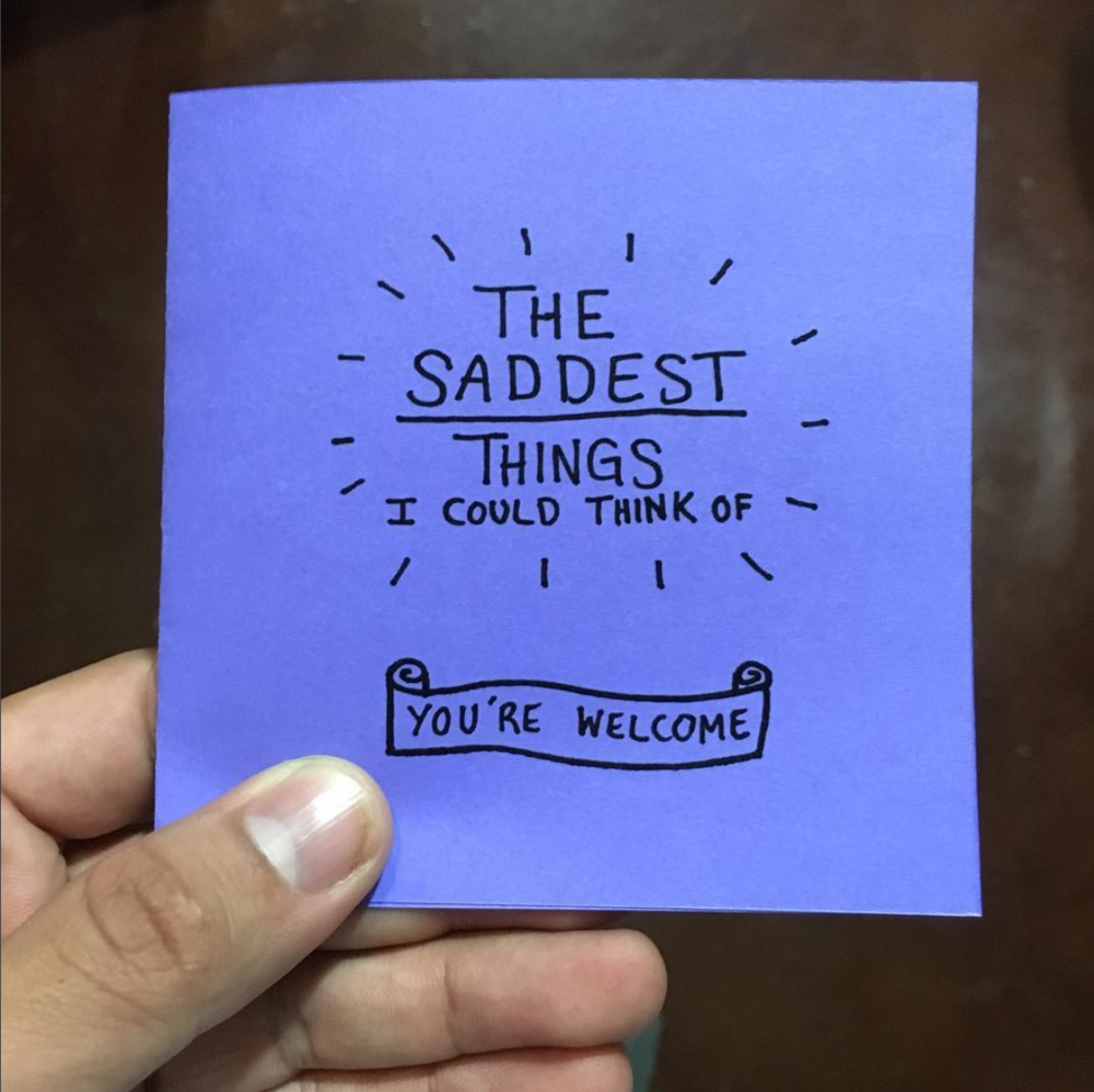 #14 - The Saddest Things I Could Think of ZineFebruary 2016
