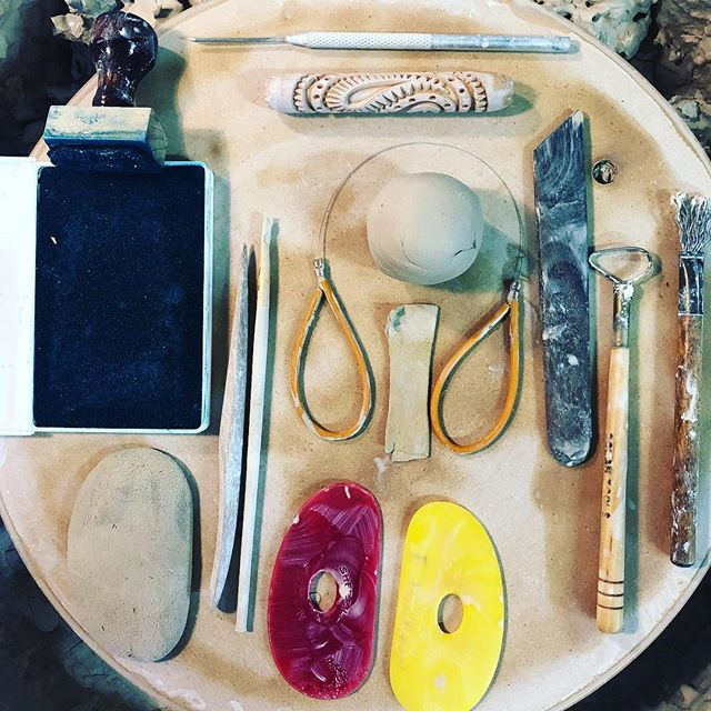 Catching up on #marchmeetthemaker | day 4 tools & materials.  Here are just a few of my favorites/most used.  Not pictured, Eta - my kiln, my wheel, my hands, and the many many tools I have collected/tried/still use around my studio.  With clay as your medium, the possibilities for tools are nearly endless.