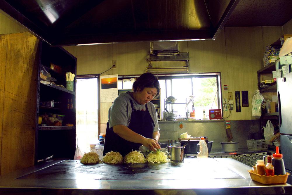 Okonomeyaki en Hiroshima