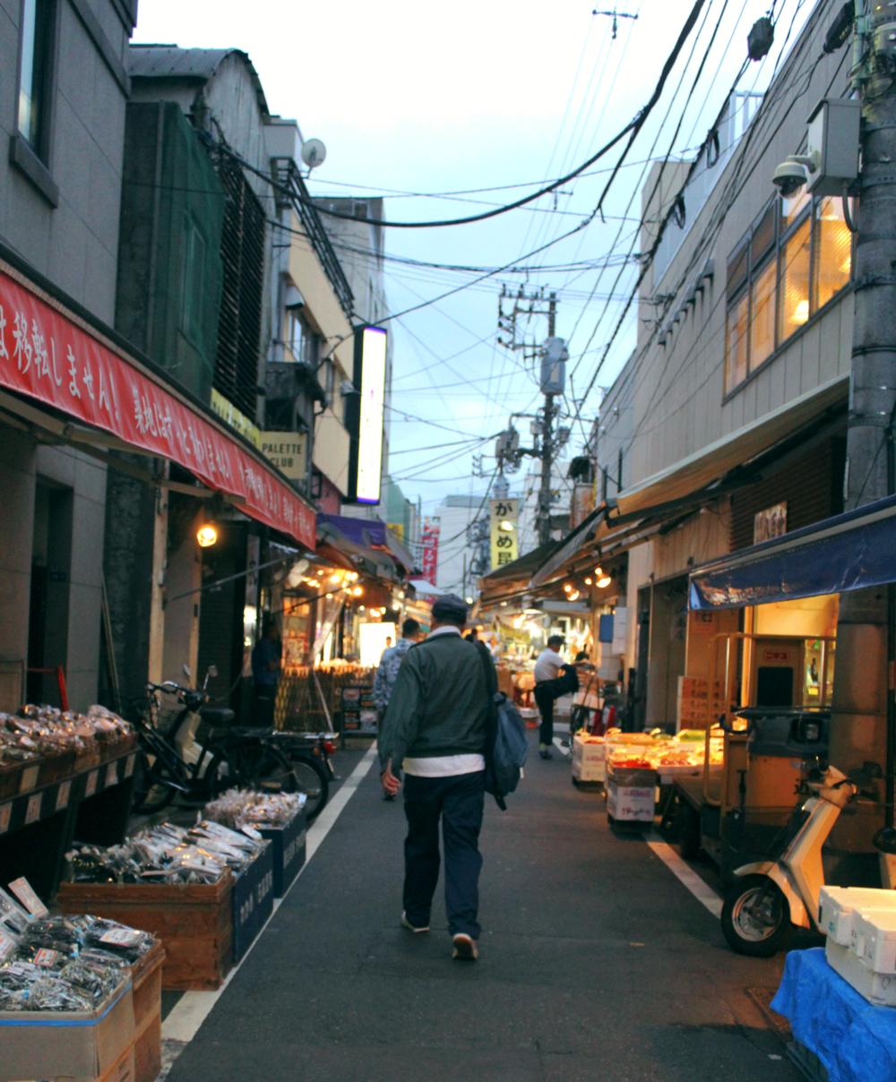 Amanecer en el Mercado Tsukiji