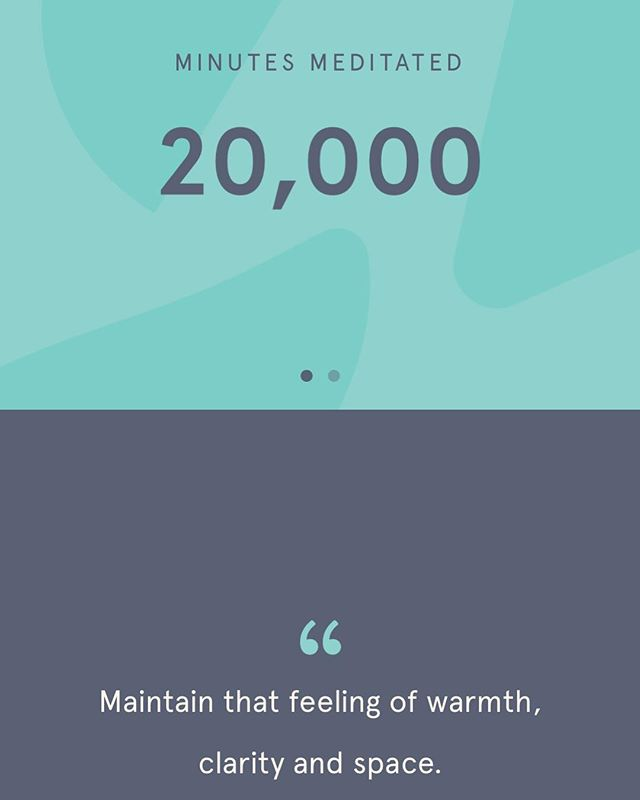 Hit a milestone this morning at 20K minutes logged in my @headspace app. I'm grateful for starting this practice several years ago, which has had a very positive impact on my life. Feeling 10/10 zen but still a work in progress. 🙏🧠 🧘🏼♂️