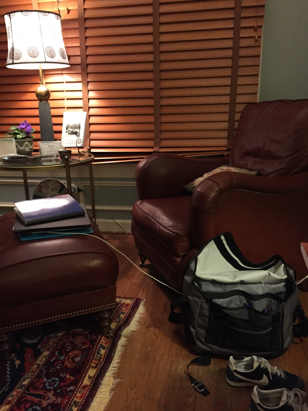 The comfy chair where I did most of my writing