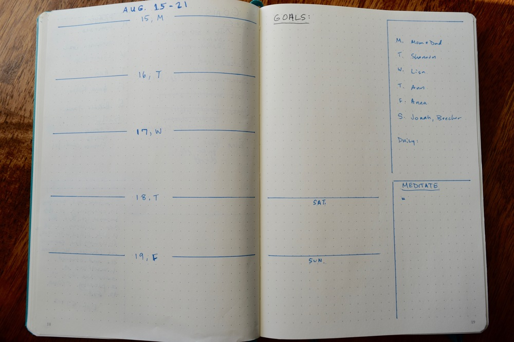 Blank Weekly Layout