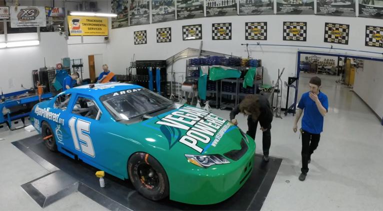 FIRST VEGAN-THEMED RACE CAR BORN - DEC 2016