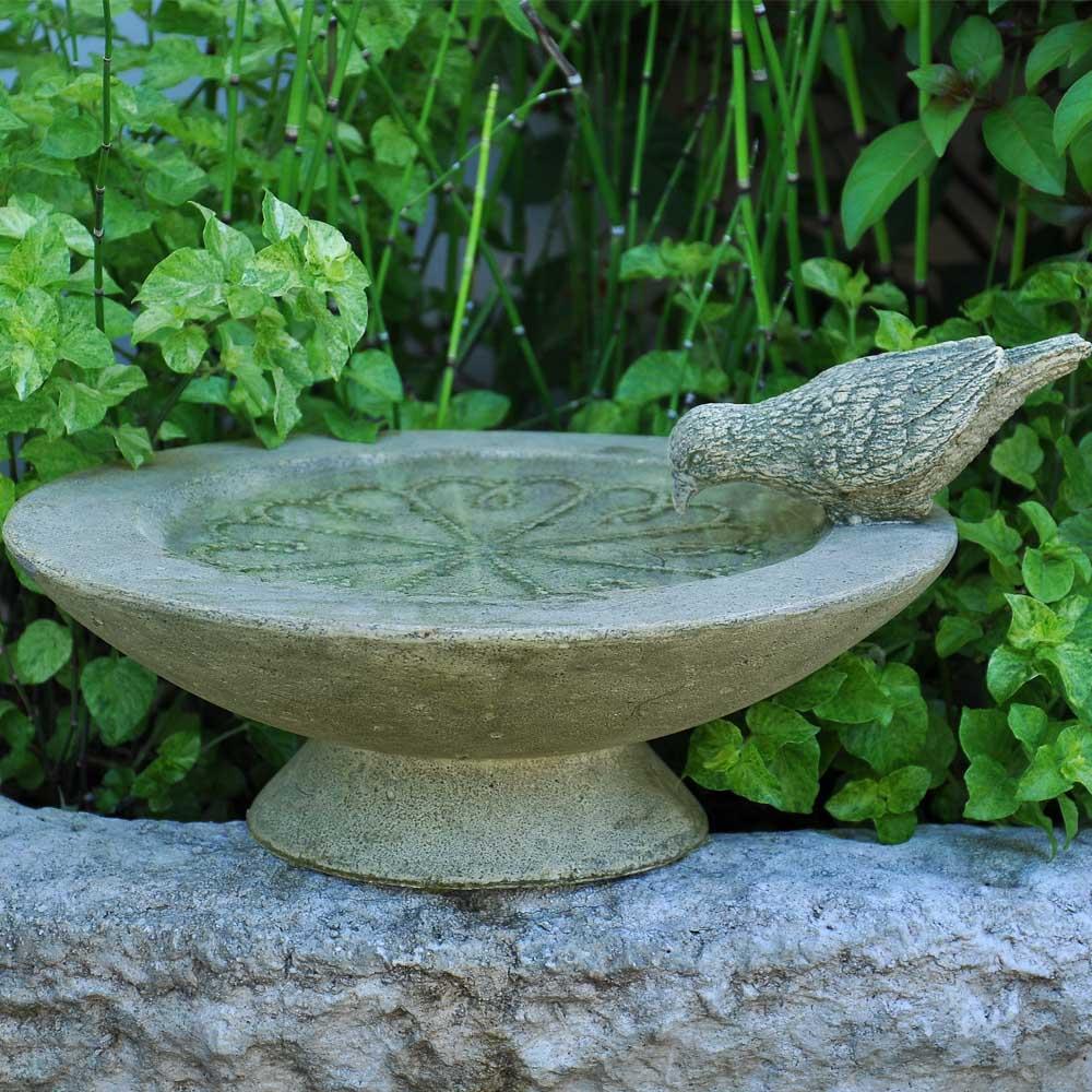 Cast Stone Table Birdbath