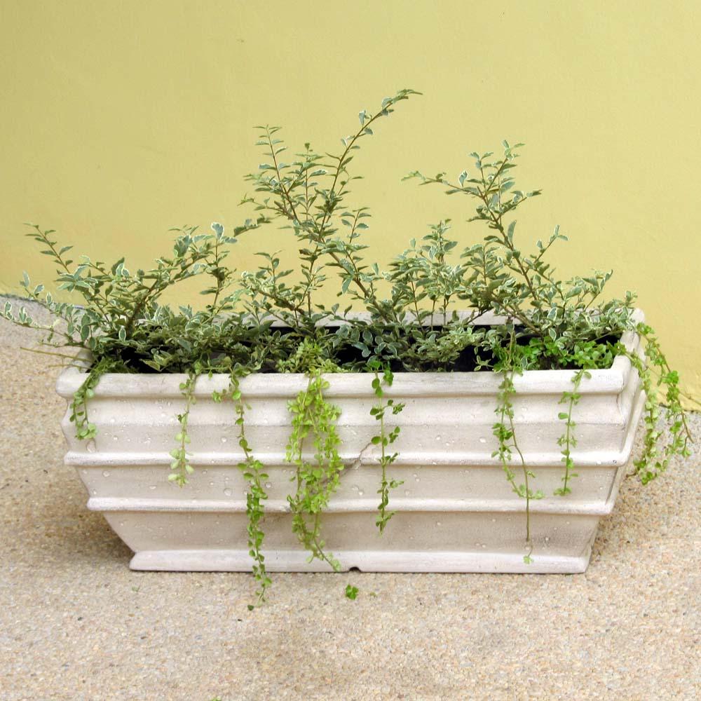 Limestone Simple Rectangular Planter