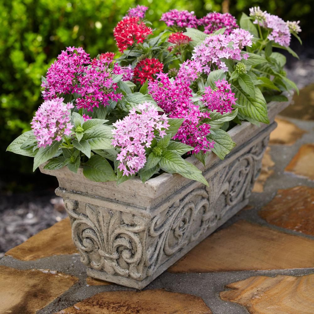 Special Aged Granite Cast Stone Rectangular Planter