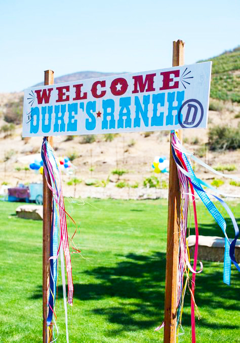 Western theme event prints design for Bill and Giuliana Rancic celebrating baby Duke.