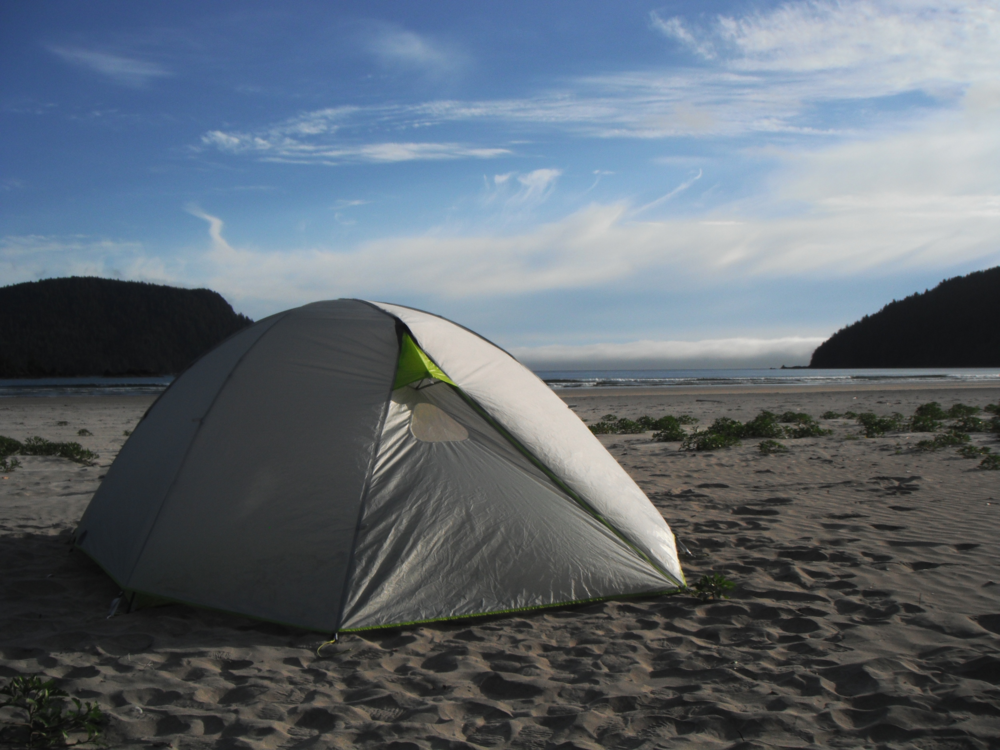 camping at San Josef Bay