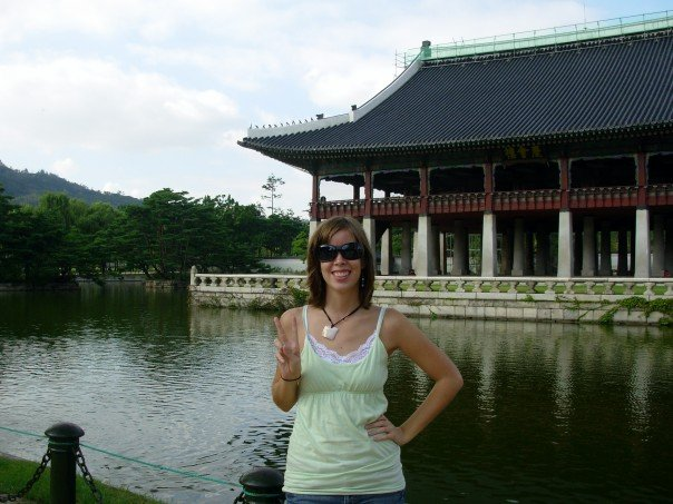 Me posing at Gyeongbok Palace