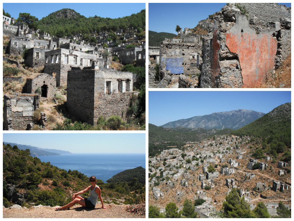 The ghost town of Kayaköy, Turkey