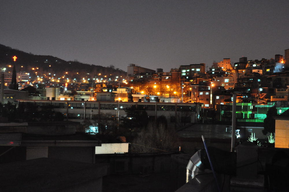 Seoul's skyline during Earth Hour 2009