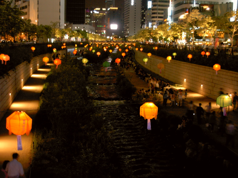 Lotus Lantern Fest at Cheonggyecheon