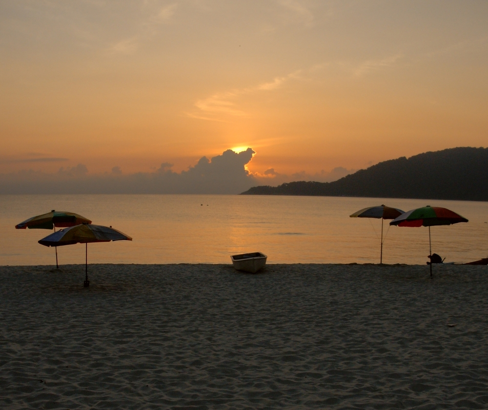 sunset on Pulau Perhentian Kecil