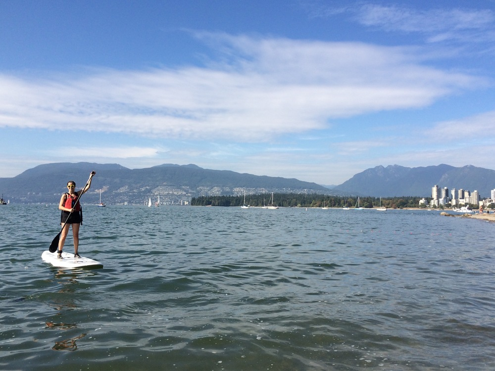 SUPing at Kits Beach