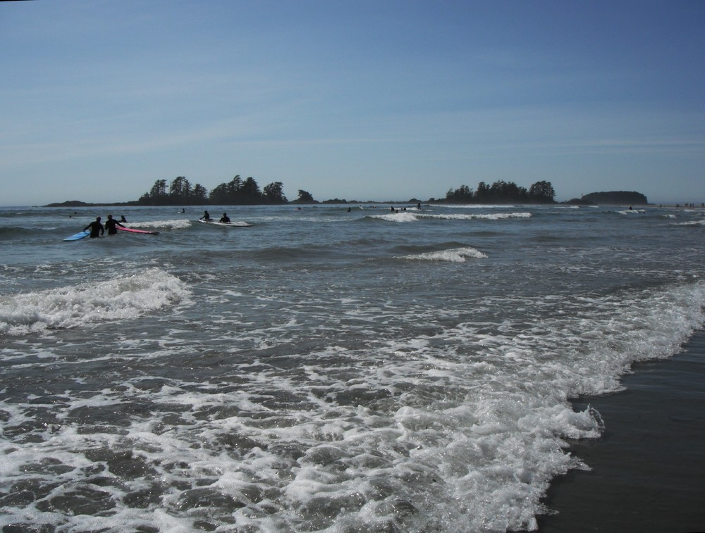surf lessons at Chesterman Beach, Tofino