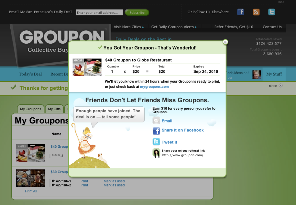 Take advantage of Groupon's cheap offers on things to do in town