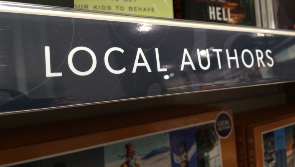 Browsing the local section at the bookstore